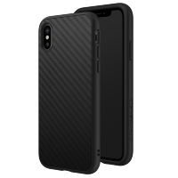 Чехол RhinoShield SolidSuit для iPhone X Чёрный карбон