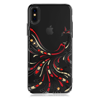 Чехол с Swarovski Kingxbar Flying для iPhone X Чёрный