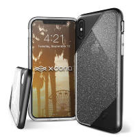 Чехол X-Doria Revel Lux для iPhone X Black Glitter